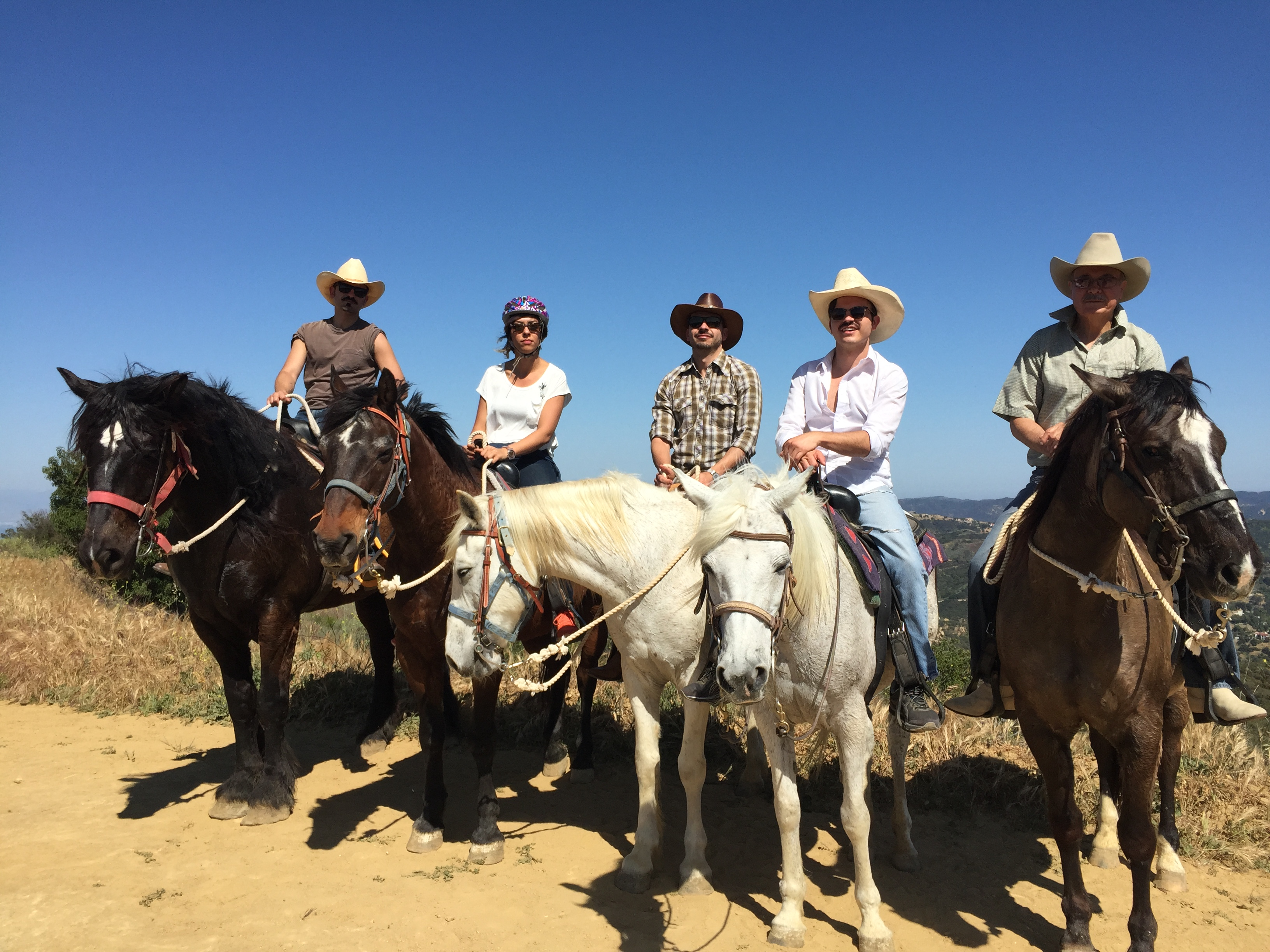 Trail riders at Los Angeles Horseback Riding